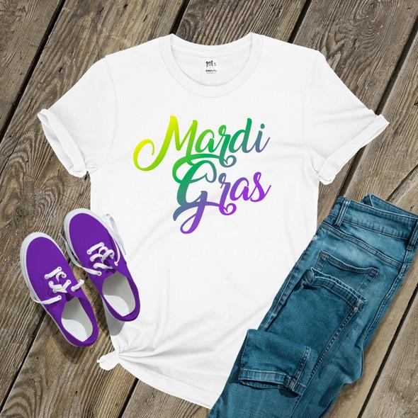 Mardi Gras script Tshirt