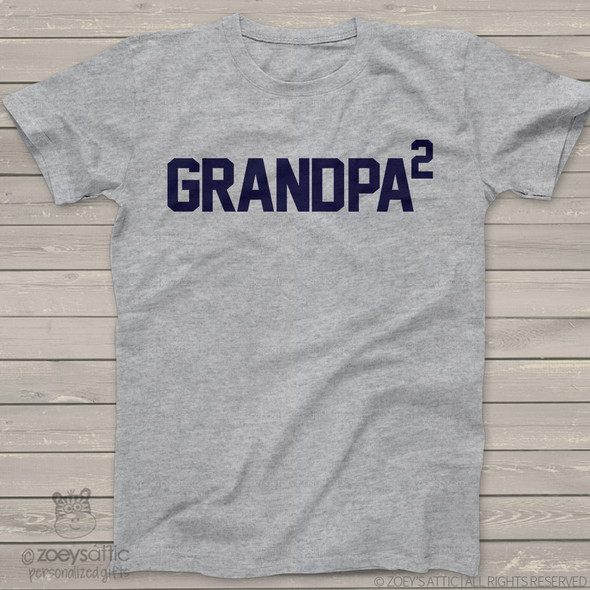 Grandpa shirt grandpa to number of granchildren custom Tshirt