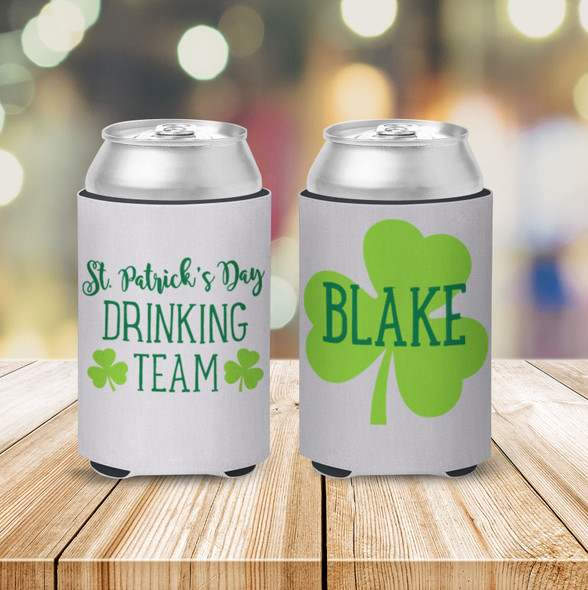 St. Patrick's Day drinking team can coolie