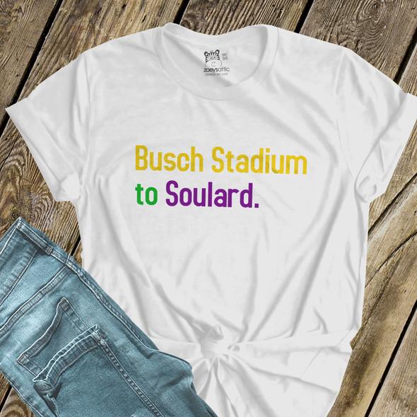 Mardi Gras St. Louis Busch Stadium to Soulard Tshirt
