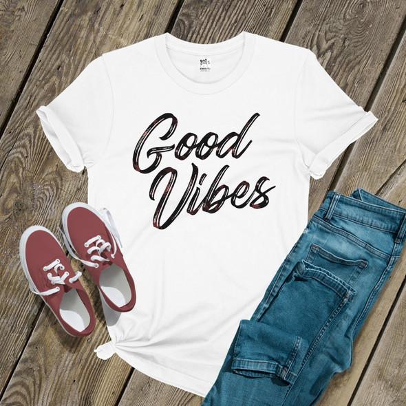 Good vibes unisex crew neck or womens v-neck Tshirt