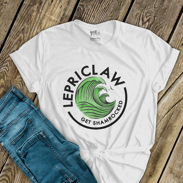 St. Patrick's Day funny lepriclaw get shamrocked Tshirt