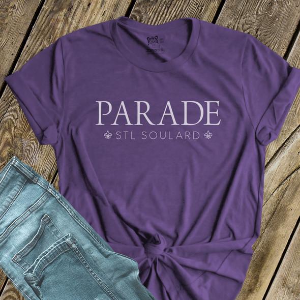 Mardi Gras parade stl soulard DARK Tshirt