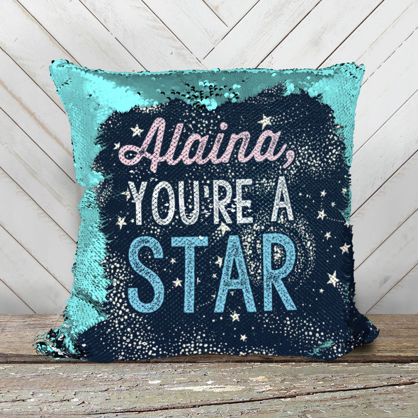 You're a star personalized decorative sequin pillowcase pillow