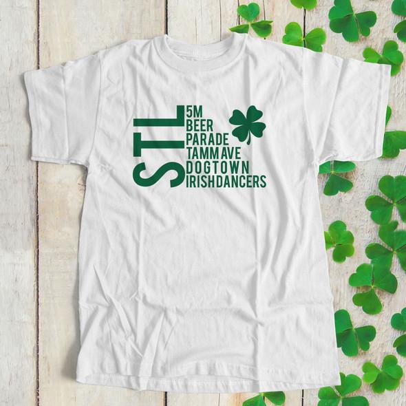 St. Patrick's Day STL saint louis adult unisex Tshirt