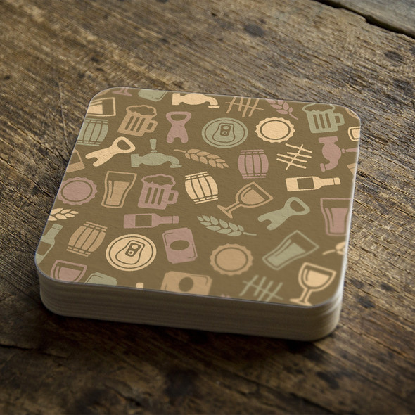 Drink square pulpboard bar coasters