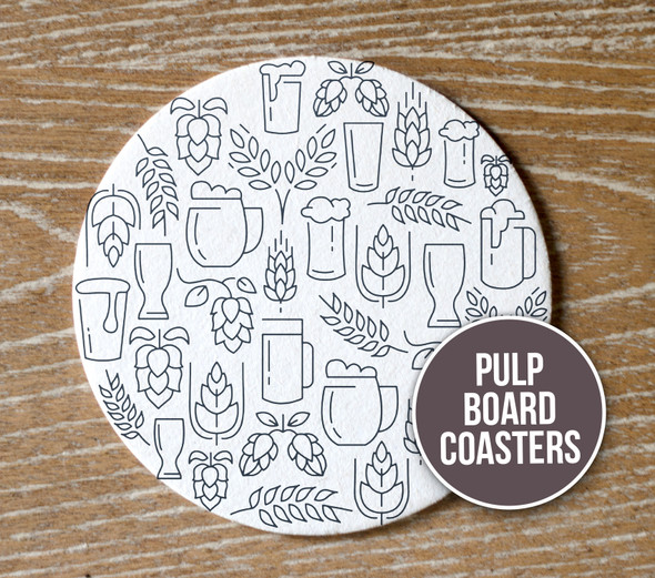 Drink round pulpboard bar coasters