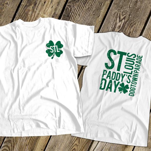 STL shamrock St. Paddy's dogtown parade adult unisex Tshirt