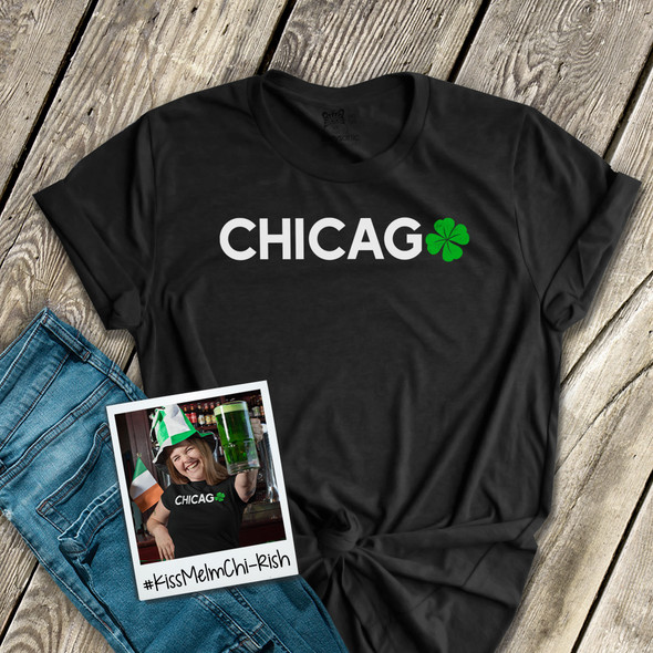 St. Patrick's Day Chicago shamrock adult unisex Tshirt