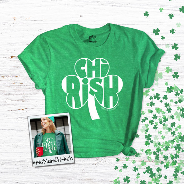 St. Patrick's Day Chicago chi-rish shamrock adult unisex DARK Tshirt