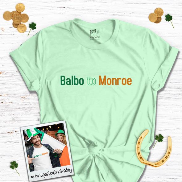 St. Patrick's Day Chicago parade Balbo to Monroe adult unisex Tshirt