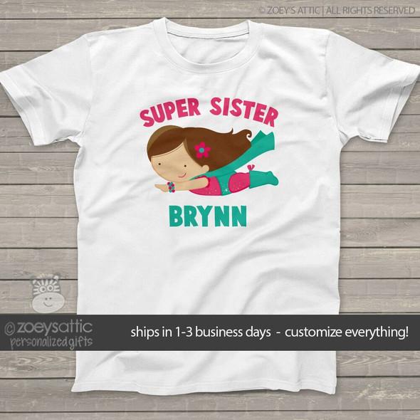Big sister shirt traditional superhero Tshirt