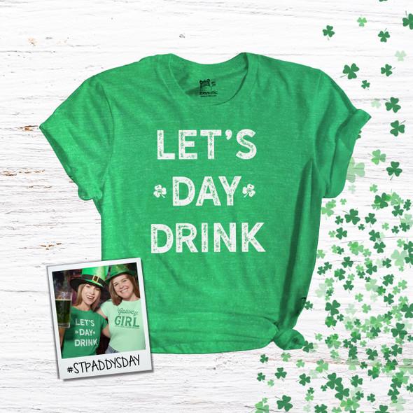 St. Patrick's Day let's day drink unisex  DARK Tshirt