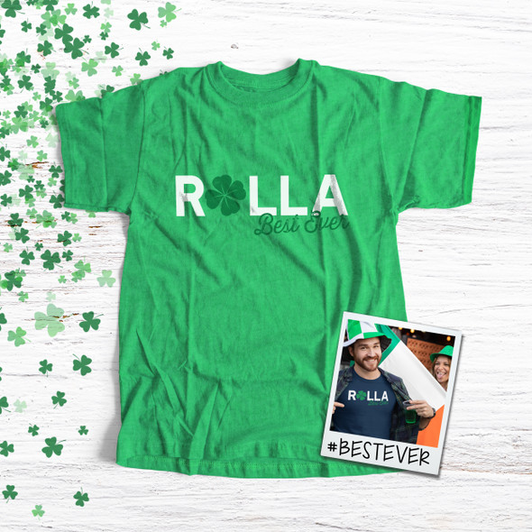 St. Patrick's Day Rolla best ever adult unisex DARK Tshirt