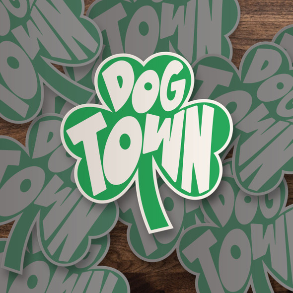 Dogtown irish shamrock vinyl sticker