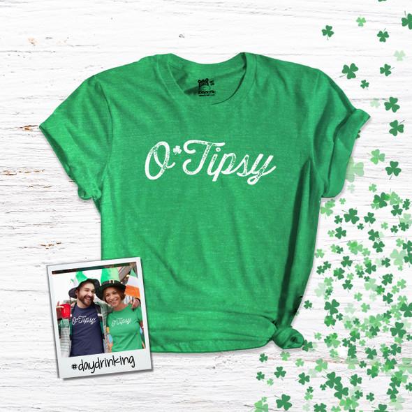 St. Patrick's Day funny o'tipsy shamrock unisex  DARK Tshirt