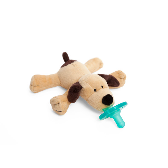 Brown Puppy pacifier by Wubbanub