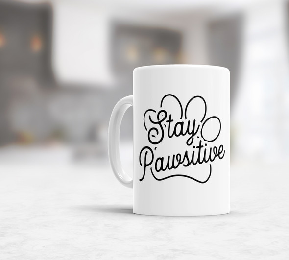 Stay pawsitive pet lover coffee mug