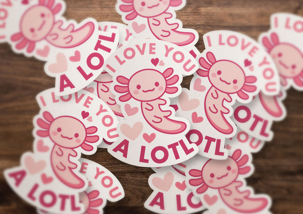 I love you a lotl vinyl sticker