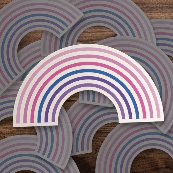 Pride bisexual rainbow vinyl sticker