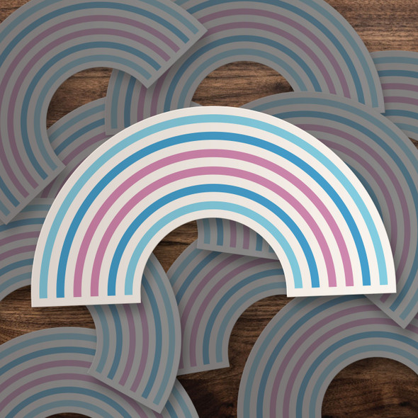 Pride transgender rainbow vinyl sticker