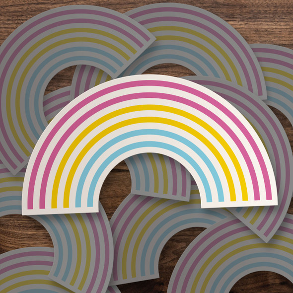 Pride pansexual rainbow vinyl sticker