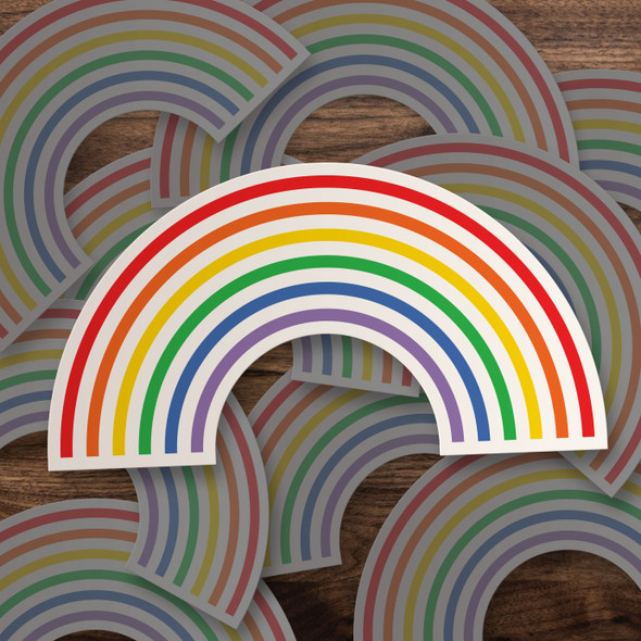 Gay Pride rainbow vinyl sticker