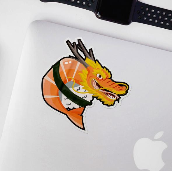 Dragon sushi vinyl sticker