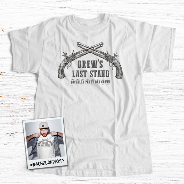 Bachelor party last stand bar crawl personalized Tshirt