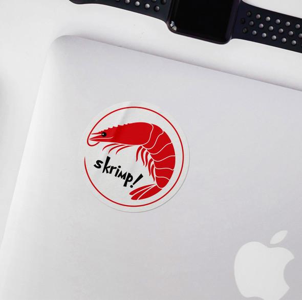 Funny skrimp vinyl sticker