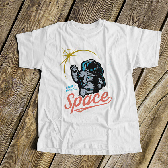 Funny astronaut I need more space personalized Tshirt