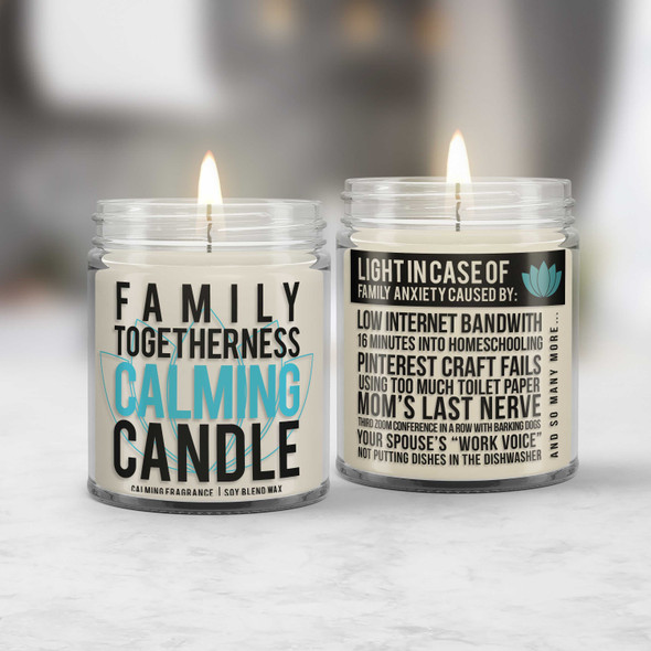 social distancing family togetherness calming candle - send a quarantine gift to a friend loved one with calming fragrance CNDL-017
