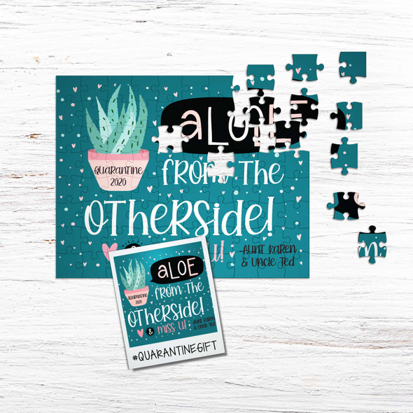 Quarantine gift social distancing aloe from the other side personalized puzzle