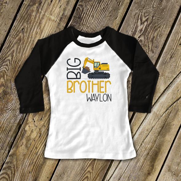Big brother construction excavator raglan shirt