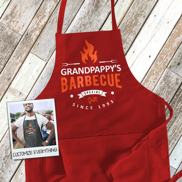 Grandpappy's barbecue special grill custom dark apron