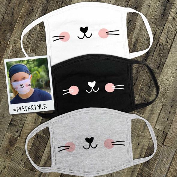 Cat kitten kitty cat face mask