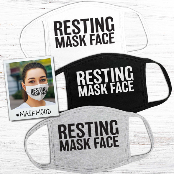 Funny resting mask face 2-ply cotton fabric face mask