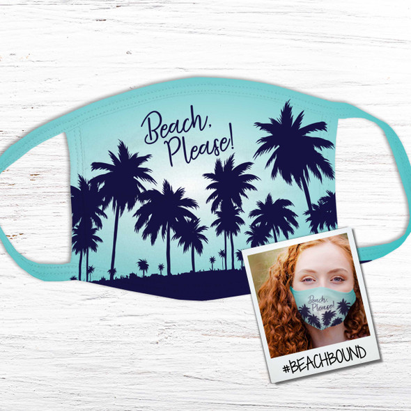 Vacation beach please adult or youth face mask