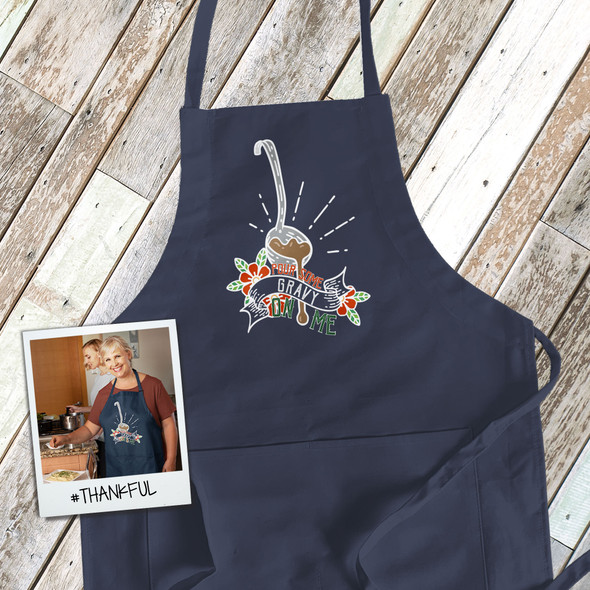 Thanksgiving pour some gravy on me adult apron