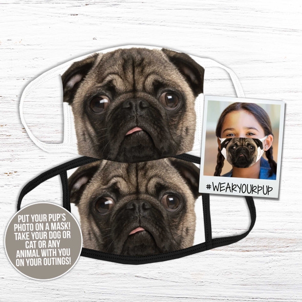 Pet photo dog cat any animal fabric face mask