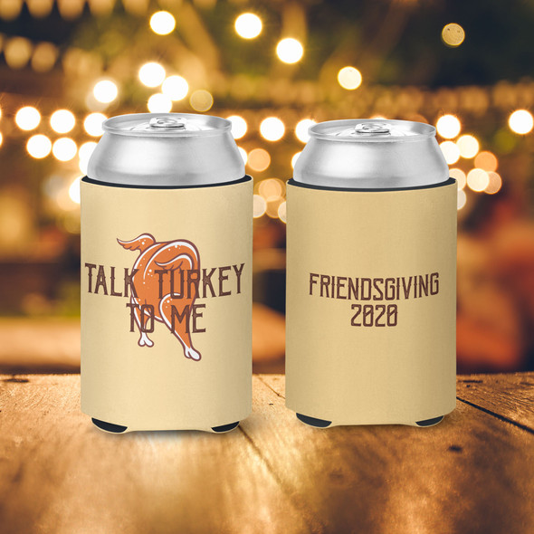 Thanksgiving friendsgiving talk turkey to me slim or regular size can coolie
