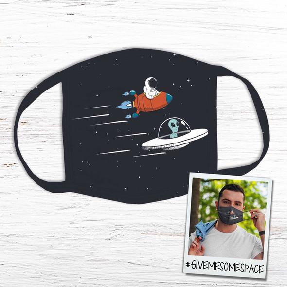 UFO spacecraft astronaut alien fabric face mask