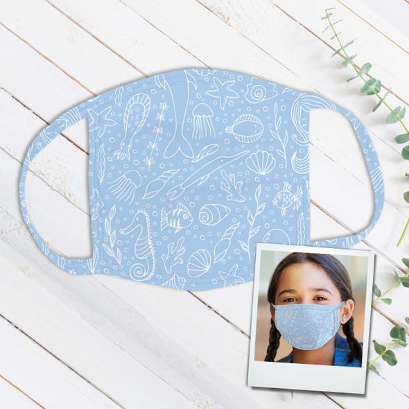 Sea life under the sea fabric face mask