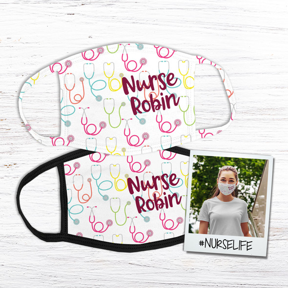 Nurse personalized fabric face mask