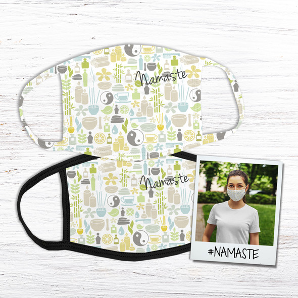 Namaste yoga fabric face mask