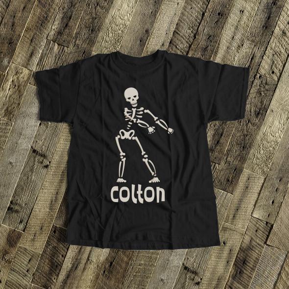 Halloween skeleton floss like a boss personalized DARK Tshirt