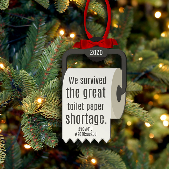 Christmas 2020 survived great toilet paper shortage commemorative ornament