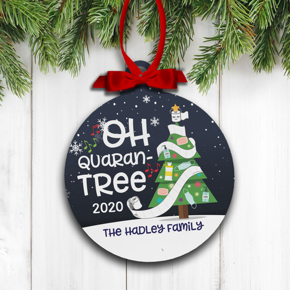 Christmas 2020 oh quaran-tree personalized holiday ornament