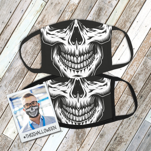 Halloween skull face skeleton fabric face mask