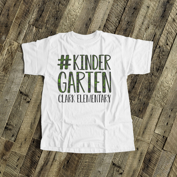 Student #kindergarten or any grade school theme text personalized Tshirt
